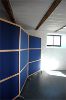 Screen walls for offices and industrial enviroments.